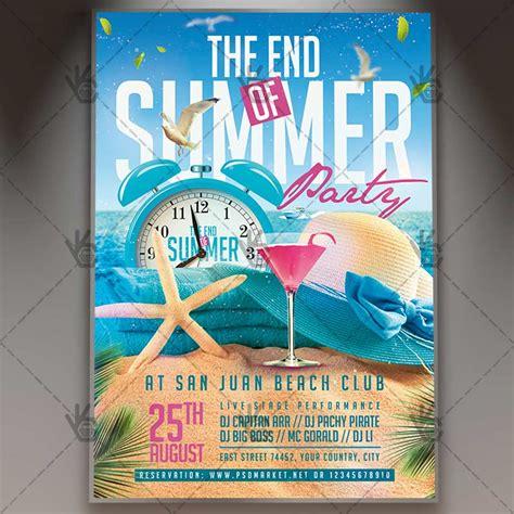 the end of summer flyer psd template psdmarket