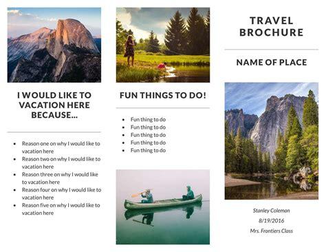 travel brochure templates examples   templates