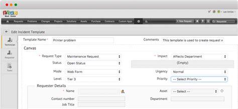 custom request forms  desk software manageengine