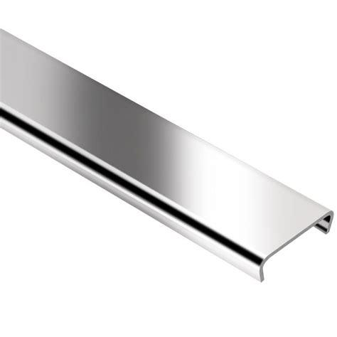 schluter designline stainless steel 1 4 in x 8 ft 2 1 2