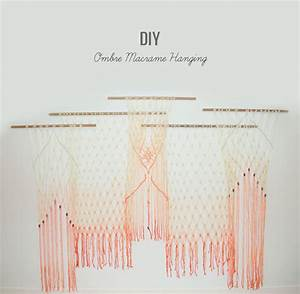 DIY: Ombre Macrame Hanging - Green Wedding Shoes