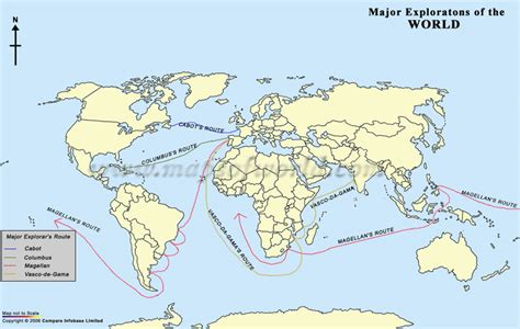 Major Explorations of the World by Famous Explorers
