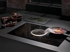 Piano De Cuisson Plaque Induction : table de cuisson induction en vitroc ramique avec hotte ~ Premium-room.com Idées de Décoration