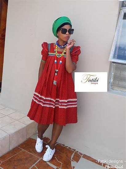 Traditional Hele Sepedi Pedi Attire Yele Dresses