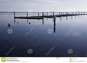 Empty Dock In Winter Stock Photo - Image: 47706742