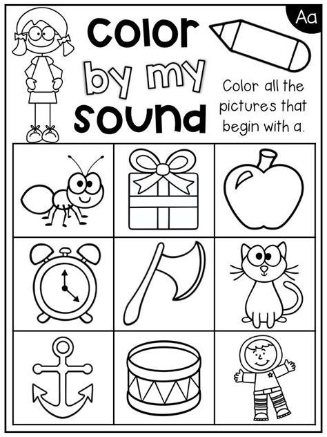 letter  beginning sounds worksheet students color