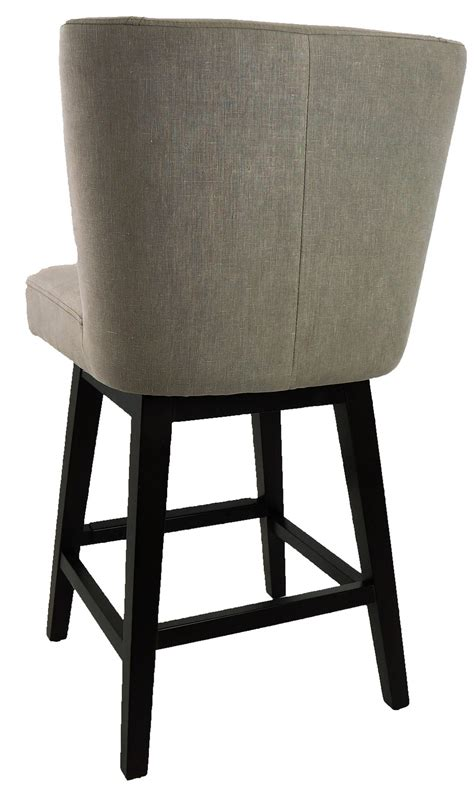 retro swivel bar stools with backs r 1223 swivel counter stool with back in vintage linen 9247