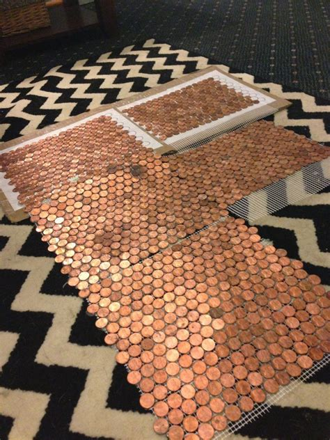 tile your floor with pennies 5 types of penny tile floor template bowling review