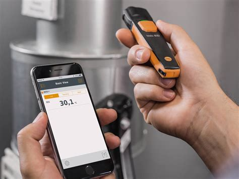 on testo testo 805i infrared thermometer smart probe portable