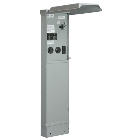 rv electrical pedestal ge rv pad mount pedestal with 100 120 240 volt panel