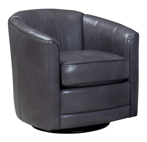 swivel glider chair with barrel back by smith brothers