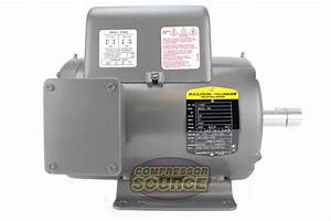 5 Hp 3450 Rpm 1 Phase Industrial Baldor Electric Motor
