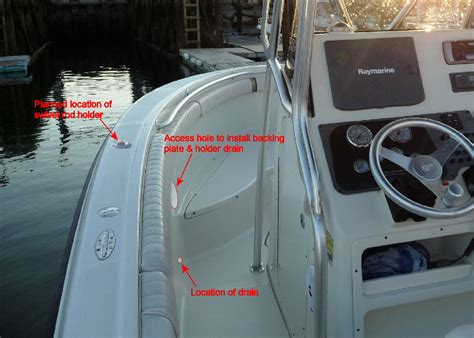 Adding Rod Holders To Fiberglass Boat installing swivel rod holders the hull boating
