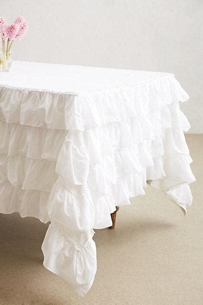 shabby chic ruffled tablecloth petticoat tablecloth i anthropologie com