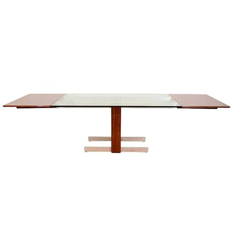 mid century glass dining table mid century glass and rosewood vladimir kagan dining table