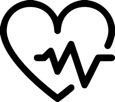 Health Fitness Heart Rate Bit Analysis Svg Png Icon Free ...