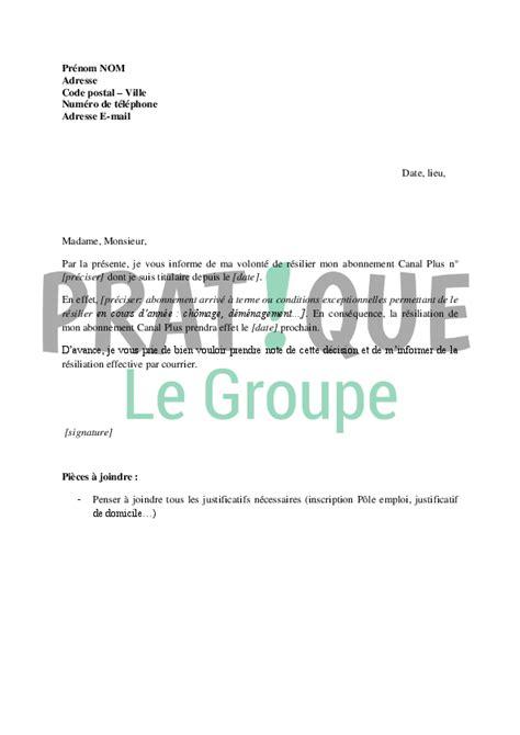canal plus cuisine lettre de résiliation d 39 abonnement canal plus pratique fr