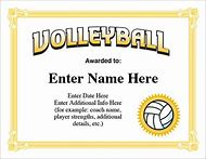 Best 25 ideas about printable volleyball find what youll love printable volleyball award certificate templates yadclub Gallery