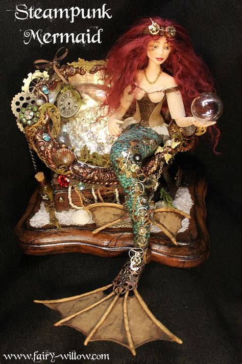 Steampunk Mermaid Ooak Art Doll Sculpted Quality By