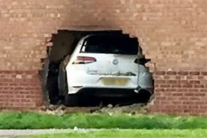 Car crashes through wall of house into living room before ...