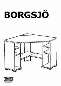 BORGSJ Bureau D39angle Blanc IKEA France IKEAPEDIA