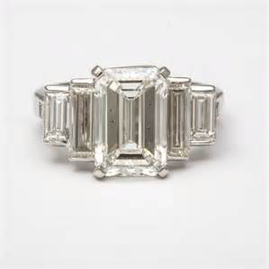 emerald shape engagement rings emerald cut engagement rings with baguettes hd ring diamantbilds