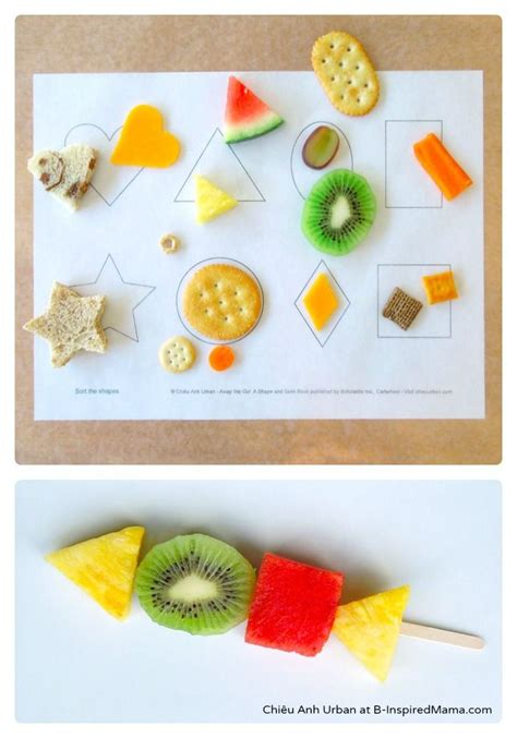 cooking projects for preschoolers exploring and sorting shapes with food b inspired 624