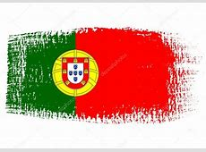 brushstroke bandeira portugal — Vetor de Stock © robodread