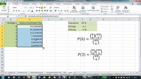 excel  aus  gewinnchance berechnen funktion