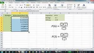 Excel Alter Berechnen Aus Geburtsdatum : excel 6 aus 49 gewinnchance berechnen funktion hypgeom vert youtube ~ Themetempest.com Abrechnung
