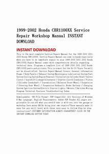 1999 2002 Honda Cbr1100xx Service Repair Workshop Manual