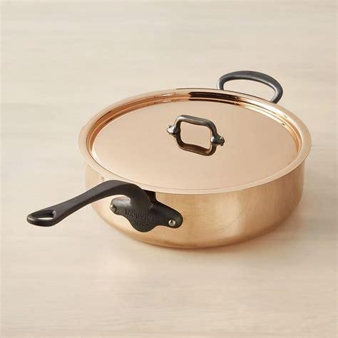 mauviel mc copper saute pan  lid williams sonoma ca
