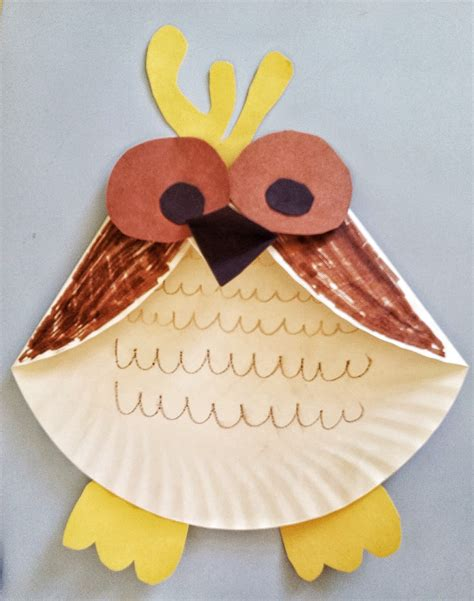 fun activities  kids paper plate owl craft mommysavers