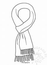 Scarf Coloring Winter Clipart Pages Invierno Template Sheets Printable Colouring Bandana Templates Gloves Para Colorear Craft January Sketch Mittens Coloringpage sketch template