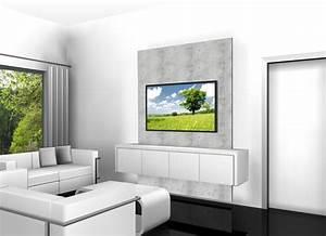 Fernseher An Der Wand : fernseher ohne kabel chaos elegant an die wand bringen tv wall square ist die hochwertige tv ~ Frokenaadalensverden.com Haus und Dekorationen