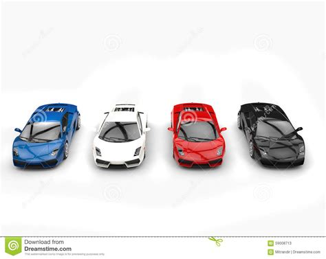 Row Of Supercars Stock Image. Image Of Energy, Plate