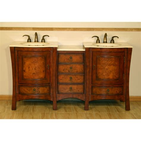 furniture style double sink vanity  marble