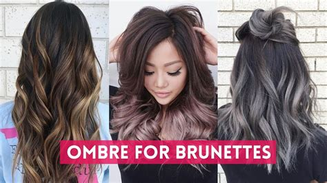 Best Hair Colors For Hair by Ombre Hair Color For Brunettes Tutorials Best Hair