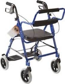 transport chair rollator combo with padded seat and basket