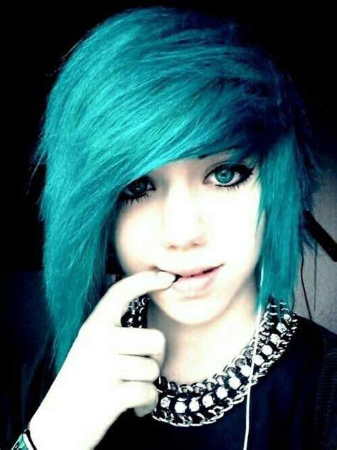 cute emo hairstyle cute blue emo hairstyle styles weekly