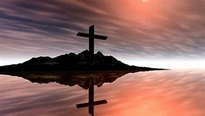 Cross Water Reflection Wallpapers