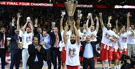 Olympiacos Bc Wins 3rd Euroleague Championship After