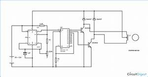 Simple Stepper Motor Driver Circuit Diagram Using 555 Timer Ic