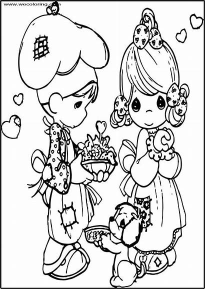 Precious Moments Coloring Printable Cook Pages