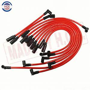 Red Spark Plug Wire Set 10 5mm For 1992