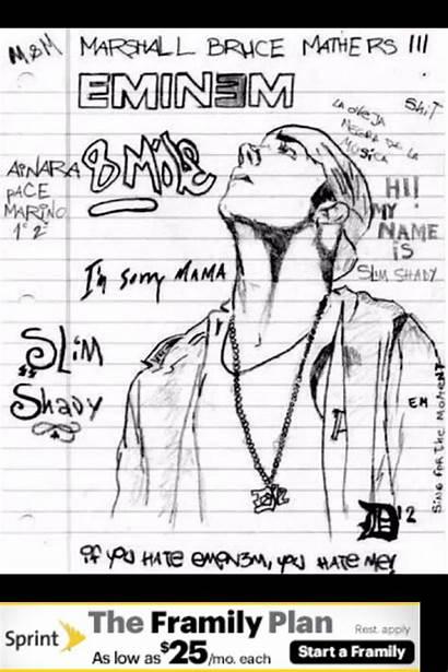 Eminem Drawing Drawings Cool Lyrics Rap Quotes