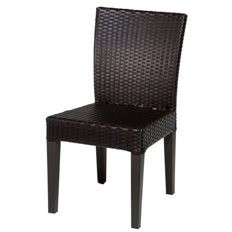 tkc napa wicker patio dining chairs in espresso set of 2