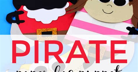 pirate paper bag puppet  fun pirate craft  kids