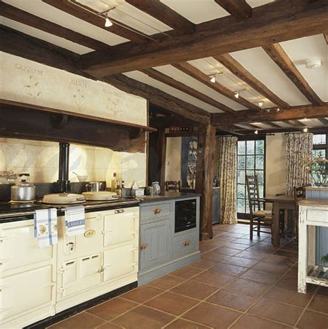 country kitchen ls image aga in country kitchen with terracotta tiled 2828