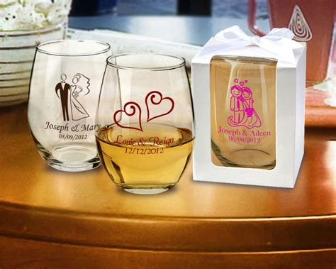 Bridal Shower Personalized Stemless Wine Glasses 15 Oz